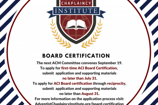 ACM News | Adventist Chaplains